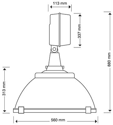 Reflector Plus Campana Aluminio 22 Pulgadas Aditivo Metálico 1500w