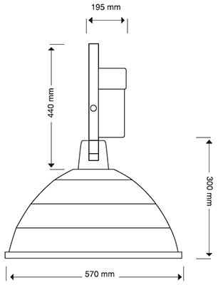 Reflector Campana de Aluminio 1000 watts