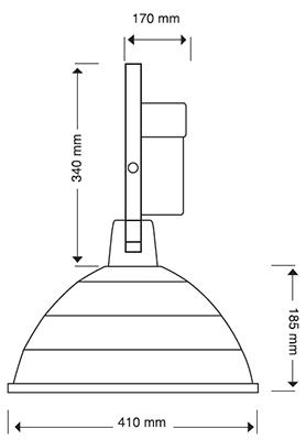Reflector Campana Aluminio 18 Pulgadas Aditivo Metalico 400w