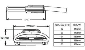 LUMINARIA LED CREE LEDWAY 30 LEDS