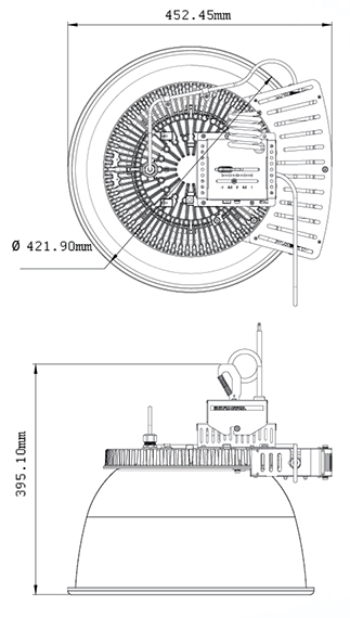 LUMINARIA LED INDUSTRIAL CREE CXB 160 WATTS