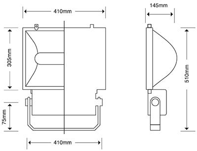 REFLECTOR AGUILA 250-400 VAPOR DE SODIO 250 WATTS