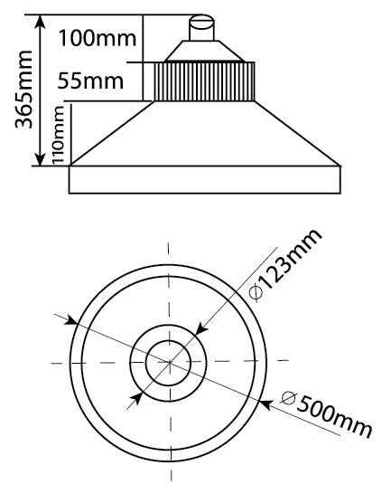 LUMINARIA LED INDUSTRIAL LUMA LI05 150 WATTS