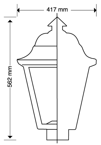 LUMINARIA PUNTA DE POSTE LED VILNA 105 WATTS