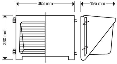 REFLECTOR WALLPACK 150 SUPER SODIO PIA 150 WATTS