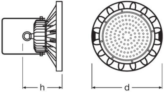 LUMINARIA LED INDUSTRIAL LEDVANCE HIGHBAY 120W